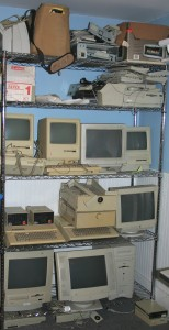 A picture of the Apple portion of the collection from very early - 2005 or so.