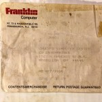 Franklin PC-8000 Shipping Label