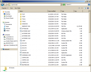 Windows for Workgroups 3.11 sharing files to a Windows 2008 R2 server.