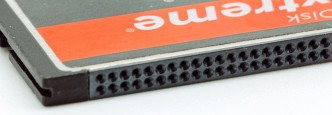 CompactFlash card close up.