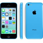 iPhone 5c blue from three angles.