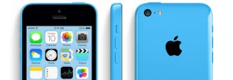 iPhone 5 Blue from three angles.