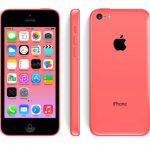 iPhone 5c pink from three angles.